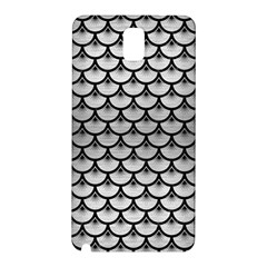 Scales3 Black Marble & Silver Brushed Metal (r) Samsung Galaxy Note 3 N9005 Hardshell Back Case by trendistuff