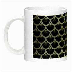 Scales3 Black Marble & Silver Brushed Metal Night Luminous Mug by trendistuff