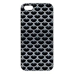 Scales3 Black Marble & Silver Brushed Metal Apple Iphone 5 Premium Hardshell Case by trendistuff
