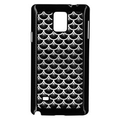 Scales3 Black Marble & Silver Brushed Metal Samsung Galaxy Note 4 Case (black)
