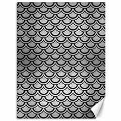 Scales2 Black Marble & Silver Brushed Metal (r) Canvas 36  X 48  by trendistuff