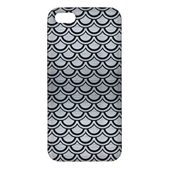 Scales2 Black Marble & Silver Brushed Metal (r) Apple Iphone 5 Premium Hardshell Case by trendistuff