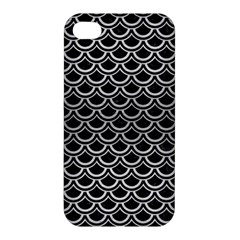 Scales2 Black Marble & Silver Brushed Metal Apple Iphone 4/4s Hardshell Case by trendistuff