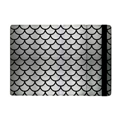 Scales1 Black Marble & Silver Brushed Metal (r) Apple Ipad Mini Flip Case by trendistuff