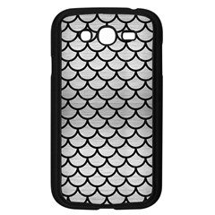Scales1 Black Marble & Silver Brushed Metal (r) Samsung Galaxy Grand Duos I9082 Case (black) by trendistuff