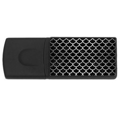 Scales1 Black Marble & Silver Brushed Metal Usb Flash Drive Rectangular (4 Gb) by trendistuff