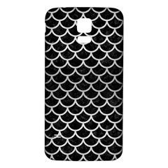Scales1 Black Marble & Silver Brushed Metal Samsung Galaxy S5 Back Case (white) by trendistuff