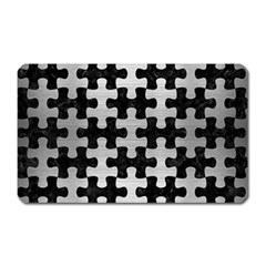 Puzzle1 Black Marble & Silver Brushed Metal Magnet (rectangular) by trendistuff