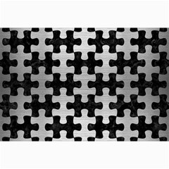 Puzzle1 Black Marble & Silver Brushed Metal Collage 12  X 18  by trendistuff