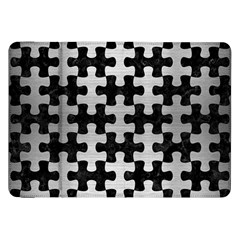 Puzzle1 Black Marble & Silver Brushed Metal Samsung Galaxy Tab 8 9  P7300 Flip Case by trendistuff