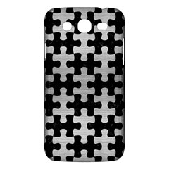 Puzzle1 Black Marble & Silver Brushed Metal Samsung Galaxy Mega 5 8 I9152 Hardshell Case  by trendistuff