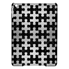 Puzzle1 Black Marble & Silver Brushed Metal Apple Ipad Air Hardshell Case by trendistuff