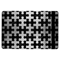 Puzzle1 Black Marble & Silver Brushed Metal Apple Ipad Air Flip Case by trendistuff