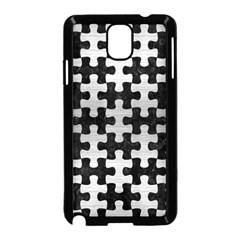 Puzzle1 Black Marble & Silver Brushed Metal Samsung Galaxy Note 3 Neo Hardshell Case (black) by trendistuff