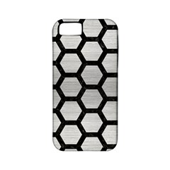 Hexagon2 Black Marble & Silver Brushed Metal (r) Apple Iphone 5 Classic Hardshell Case (pc+silicone) by trendistuff
