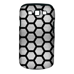 Hexagon2 Black Marble & Silver Brushed Metal (r) Samsung Galaxy S Iii Classic Hardshell Case (pc+silicone) by trendistuff