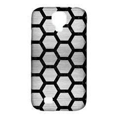 Hexagon2 Black Marble & Silver Brushed Metal (r) Samsung Galaxy S4 Classic Hardshell Case (pc+silicone) by trendistuff