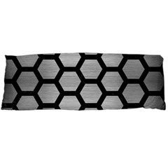 Hexagon2 Black Marble & Silver Brushed Metal Body Pillow Case Dakimakura (two Sides) by trendistuff