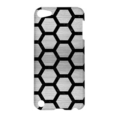 Hexagon2 Black Marble & Silver Brushed Metal Apple Ipod Touch 5 Hardshell Case by trendistuff