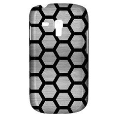 Hexagon2 Black Marble & Silver Brushed Metal Samsung Galaxy S3 Mini I8190 Hardshell Case by trendistuff
