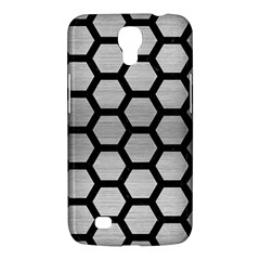 Hexagon2 Black Marble & Silver Brushed Metal Samsung Galaxy Mega 6 3  I9200 Hardshell Case by trendistuff