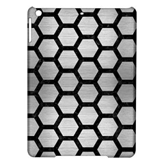 Hexagon2 Black Marble & Silver Brushed Metal Apple Ipad Air Hardshell Case by trendistuff