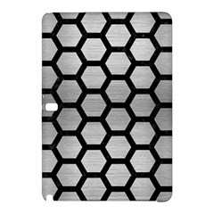 Hexagon2 Black Marble & Silver Brushed Metal Samsung Galaxy Tab Pro 10 1 Hardshell Case by trendistuff