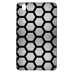 Hexagon2 Black Marble & Silver Brushed Metal Samsung Galaxy Tab Pro 8 4 Hardshell Case by trendistuff