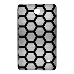 Hexagon2 Black Marble & Silver Brushed Metal Samsung Galaxy Tab 4 (7 ) Hardshell Case  by trendistuff