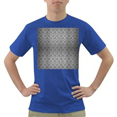 Hexagon1 Black Marble & Silver Brushed Metal (r) Dark T Shirt by trendistuff