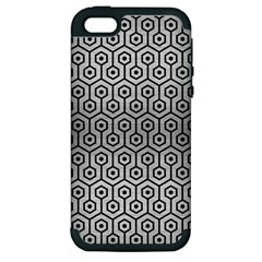Hexagon1 Black Marble & Silver Brushed Metal (r) Apple Iphone 5 Hardshell Case (pc+silicone) by trendistuff