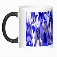 Funky Chevron Blue Morph Mugs by MoreColorsinLife