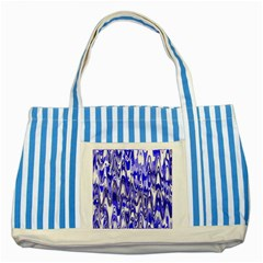 Funky Chevron Blue Striped Blue Tote Bag by MoreColorsinLife