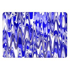 Funky Chevron Blue Samsung Galaxy Tab 10 1  P7500 Flip Case by MoreColorsinLife