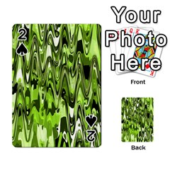 Funky Chevron Green Playing Cards 54 Designs