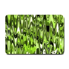 Funky Chevron Green Small Doormat  by MoreColorsinLife