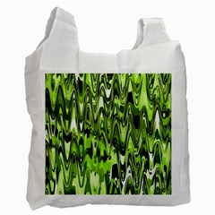 Funky Chevron Green Recycle Bag (one Side) by MoreColorsinLife