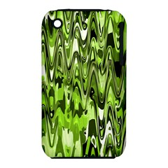 Funky Chevron Green Apple Iphone 3g/3gs Hardshell Case (pc+silicone) by MoreColorsinLife