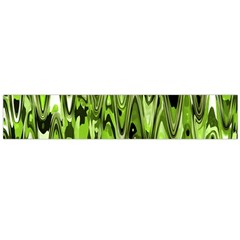Funky Chevron Green Flano Scarf (large)