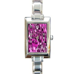 Funky Chevron Hot Pink Rectangle Italian Charm Watches by MoreColorsinLife