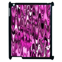 Funky Chevron Hot Pink Apple Ipad 2 Case (black) by MoreColorsinLife