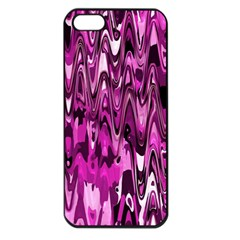 Funky Chevron Hot Pink Apple Iphone 5 Seamless Case (black) by MoreColorsinLife