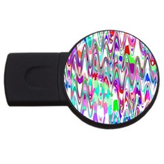 Funky Chevron Multicolor Usb Flash Drive Round (2 Gb)  by MoreColorsinLife