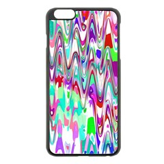 Funky Chevron Multicolor Apple Iphone 6 Plus/6s Plus Black Enamel Case by MoreColorsinLife