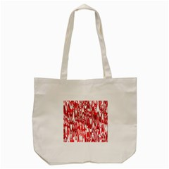 Funky Chevron Red Tote Bag (cream)