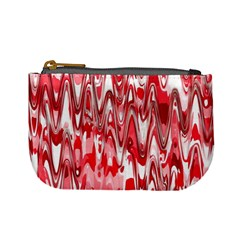 Funky Chevron Red Mini Coin Purses