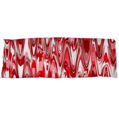 Funky Chevron Red Body Pillow Cases Dakimakura (two Sides)  by MoreColorsinLife