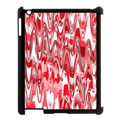 Funky Chevron Red Apple Ipad 3/4 Case (black) by MoreColorsinLife