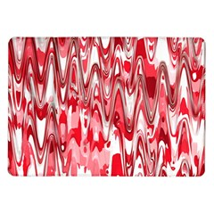 Funky Chevron Red Samsung Galaxy Tab 10 1  P7500 Flip Case by MoreColorsinLife