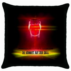 Famous Last Words   Du Kommst Auf Den Grill Throw Pillow Cases (black) by RespawnLARPer